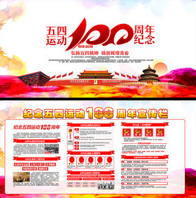 54运动100周年展板