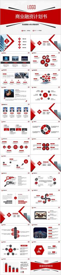 红色商业计划书PPT
