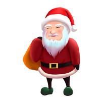 卡通圣诞老人手绘元素