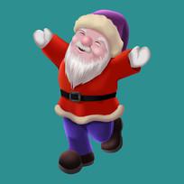 原创圣诞老人手绘插画元素