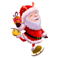 原创圣诞老人手绘元素