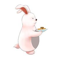 原创中秋节玉兔兔子手绘元素