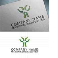 Y字母花蕾LOGO标志设计