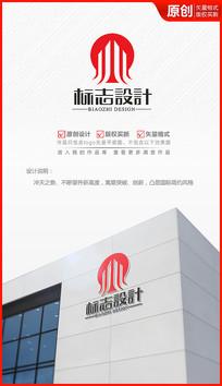 不断攀升高楼建筑logo设计商标设计