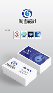 财富飞龙logo设计标志设计 AI