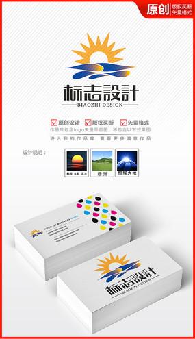初升朝阳logo设计标志商标设计
