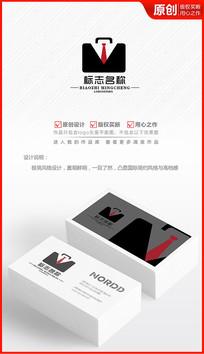 公文包西装logo设计商标标志设计