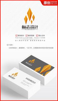 金色钻石logo设计商标标志设计