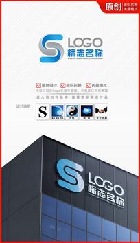 立体S字母logo设计C字母设计
