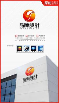 立体科技流动润滑油logo设计商标设计