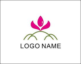 女性用品莲花水滴logo商标