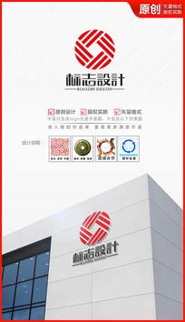 钱币财富循环logo设计商标标志设计
