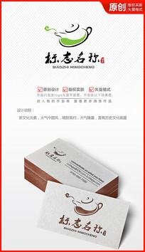 清新茶叶logo设计商标标志设计