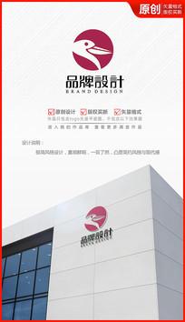 水鸟logo设计商标标志设计