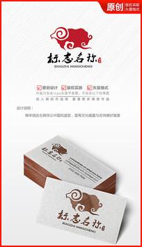 祥云绵羊logo设计标志商标设计