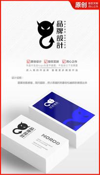 妖精小恶魔logo设计魔鬼图标商标设计