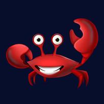 原创插画海洋生物螃蟹