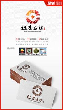 中国风古典玉佩钱币金融logo设计商标