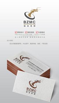 中国风巨龙logo设计商标 AI