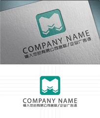 字母M的LOGO标志设计
