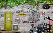 复古怀旧致青春背景装饰墙