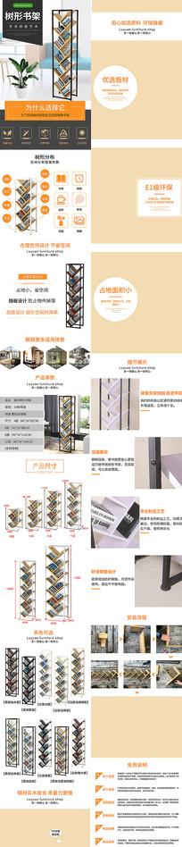 家具办公钢制书架详情页