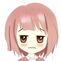 可爱小女孩表情插画
