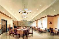 室内餐厅手绘