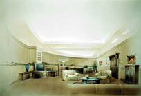 室内古典会客室手绘