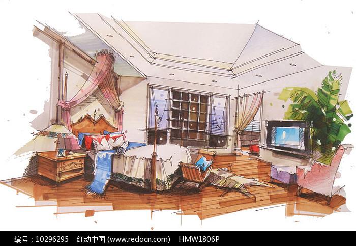现代儿童卧室手绘图片