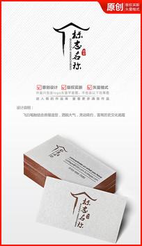 古典中国风房屋logo商标设计