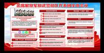 红色解放军和武警部队代表全体会议展板