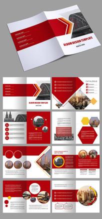 红色企业科技画册