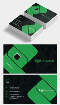 绿色简约大气企业名片设计