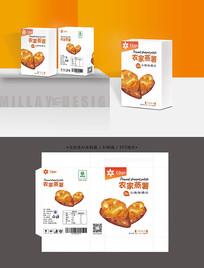 农家蒸薯包装盒设计