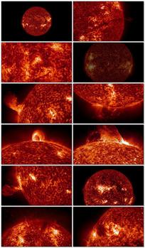 太阳能量爆炸视频素材