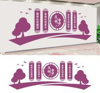 校园文明礼仪文化墙设计