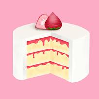 原创元素卡通甜点蛋糕