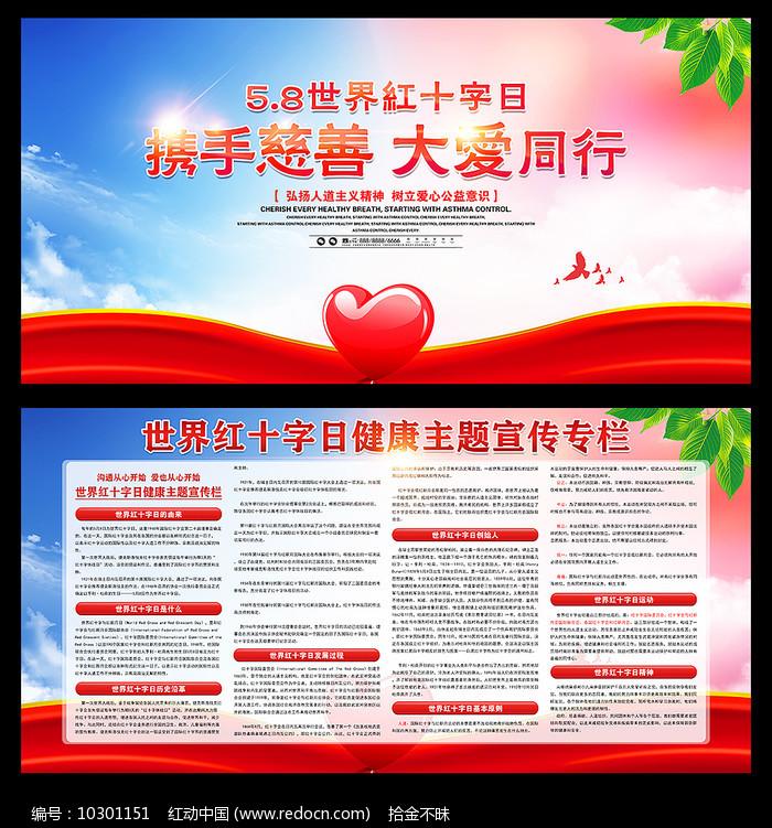 5.8世界十字日健康宣传展板图片