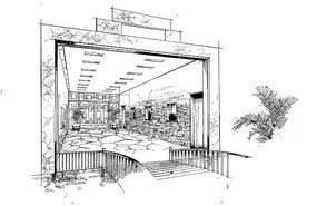 餐厅入口线稿 JPG
