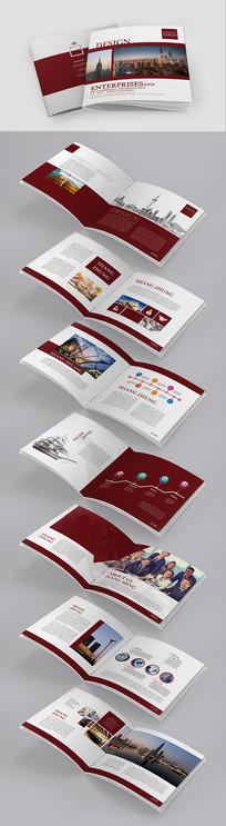 红色商务商贸现代科技企业画册