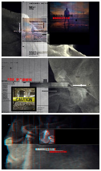 恐怖图文展示AE模板