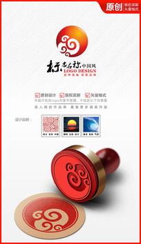 祥云太陽朝陽logo設計