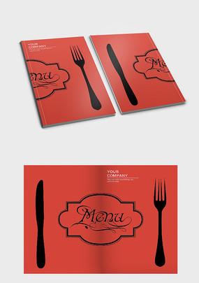 西餐厅菜单封面