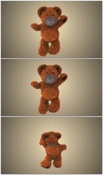 熊跳舞出logo视频模板