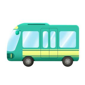原创元素交通工具公交车