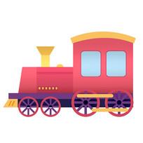 原创元素交通工具火车