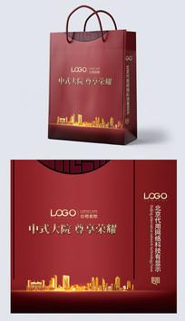 中國風商務地產手提袋設計