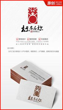 中国风图腾门扣logo设计