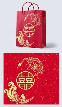 中式婚礼手提袋设计